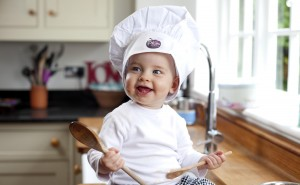Baby chef at Plum Cookery School